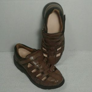 Dr Comfort Sunshine Diabetic Brown Leather Shoes